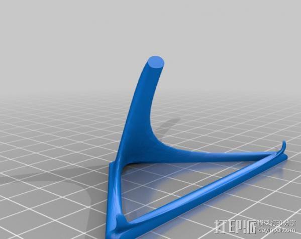 智能手机/平板电脑支撑架 3D模型  图2
