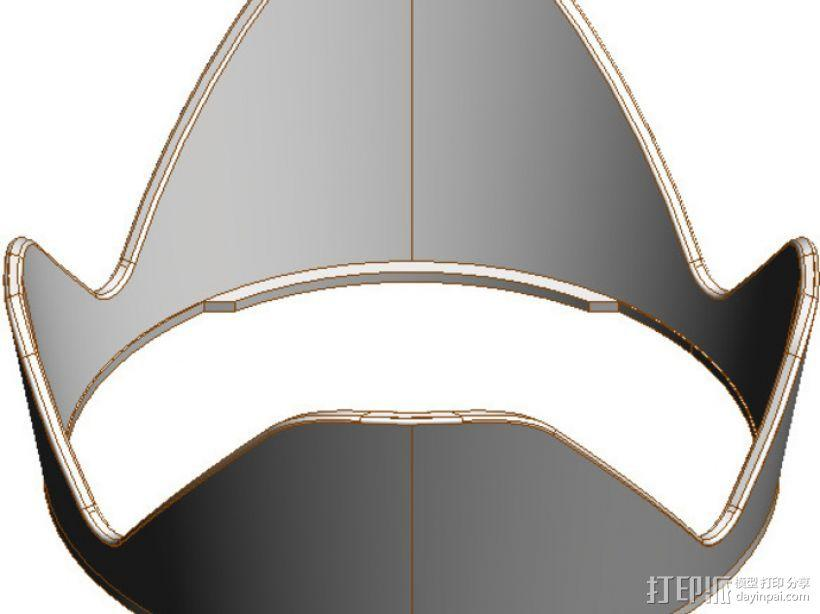 Canon EF-S佳能相机镜头遮光罩 3D模型  图3