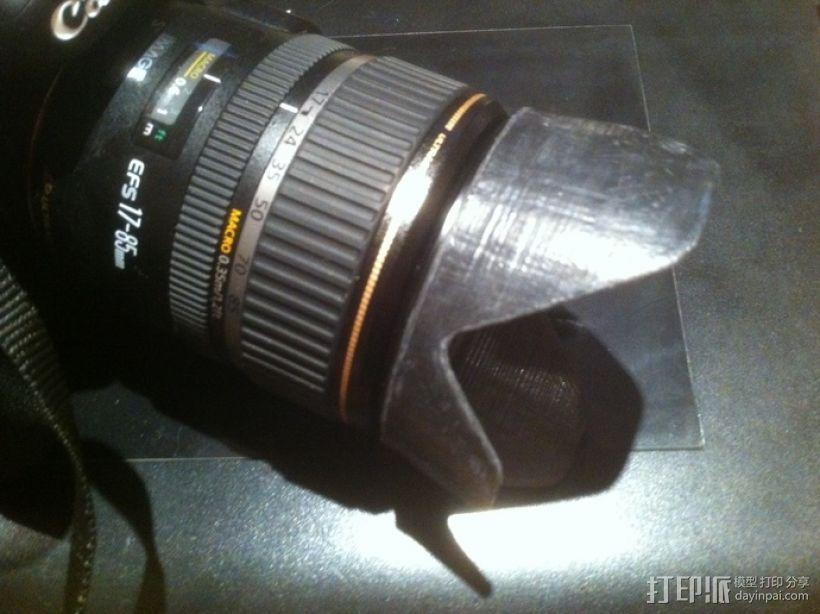 Canon EF-S佳能相机镜头遮光罩 3D模型  图4
