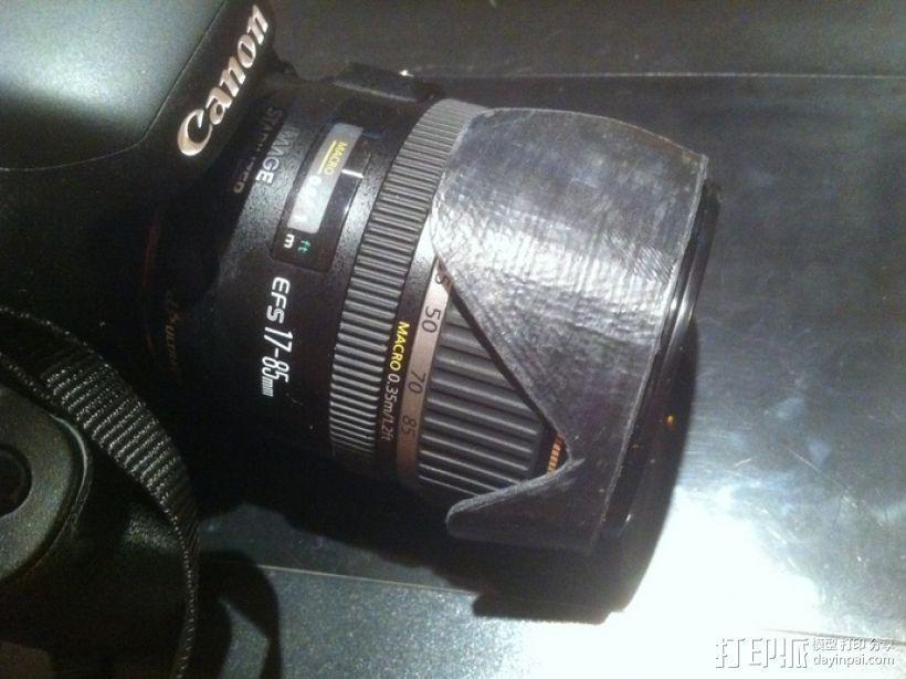 Canon EF-S佳能相机镜头遮光罩 3D模型  图6