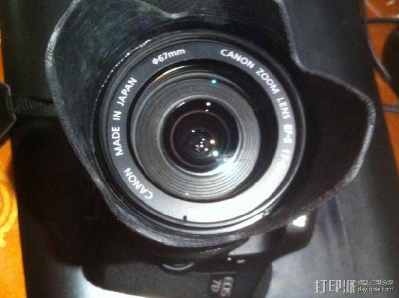 Canon EF-S佳能相机镜头遮光罩 3D模型  图5
