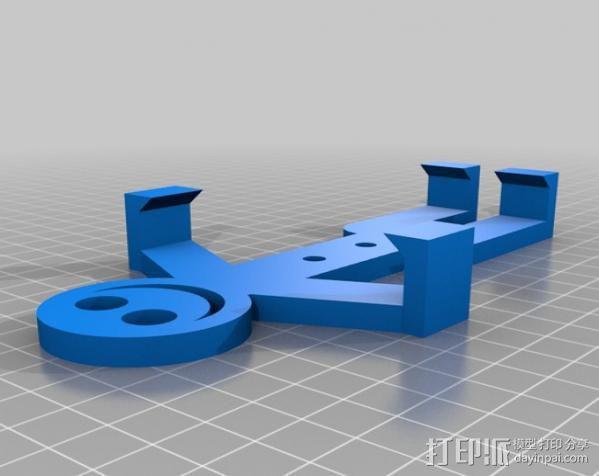 人形手机支架 3D模型  图4