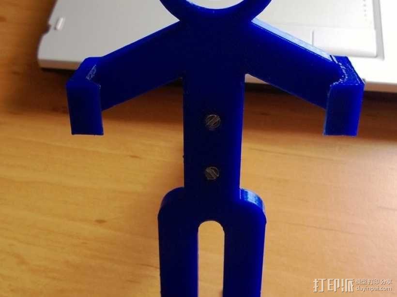 人形手机支架 3D模型  图7
