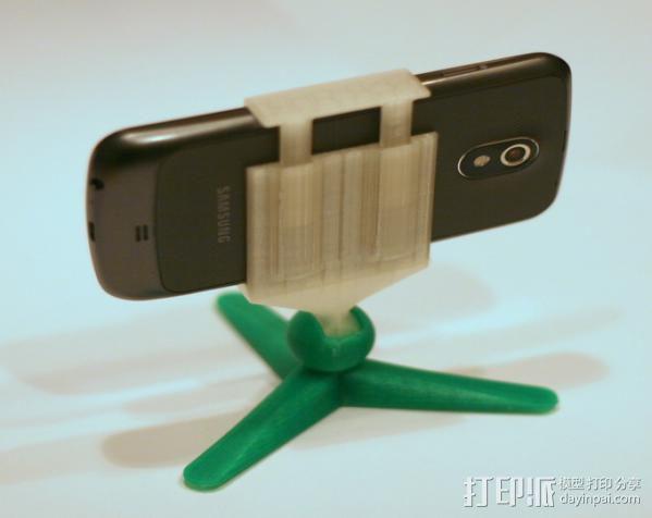 手机照相支架 3D模型  图2