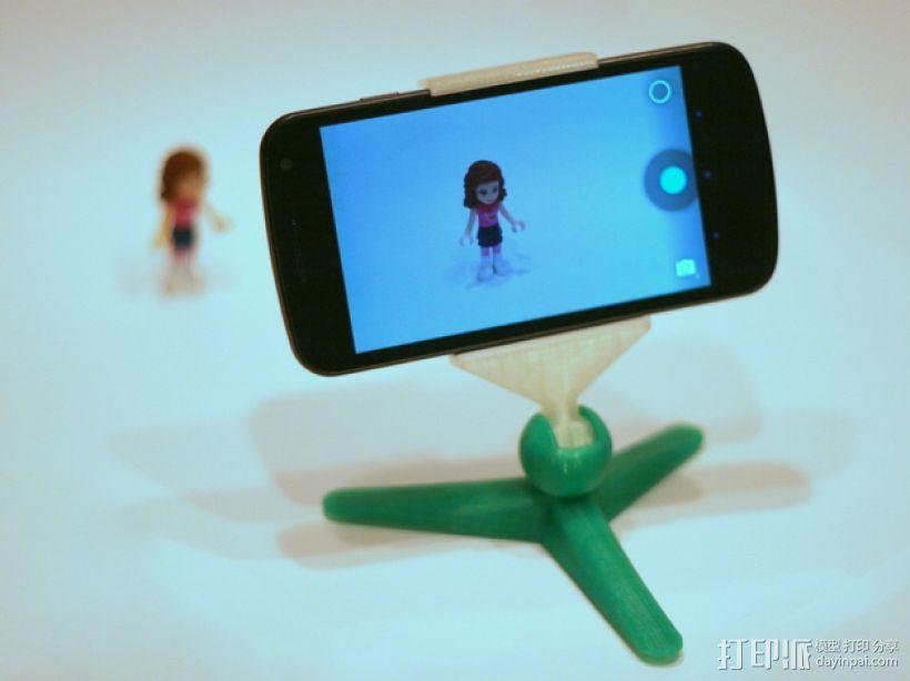 手机照相支架 3D模型  图1