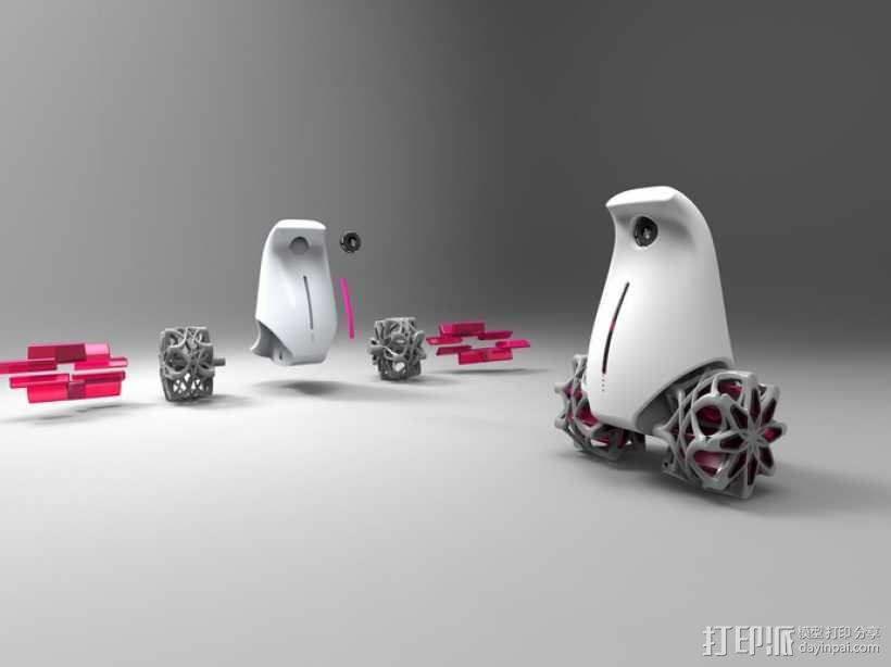小鸟机器人 3D模型  图4