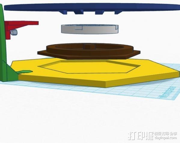 扫描转盘 3D模型  图2