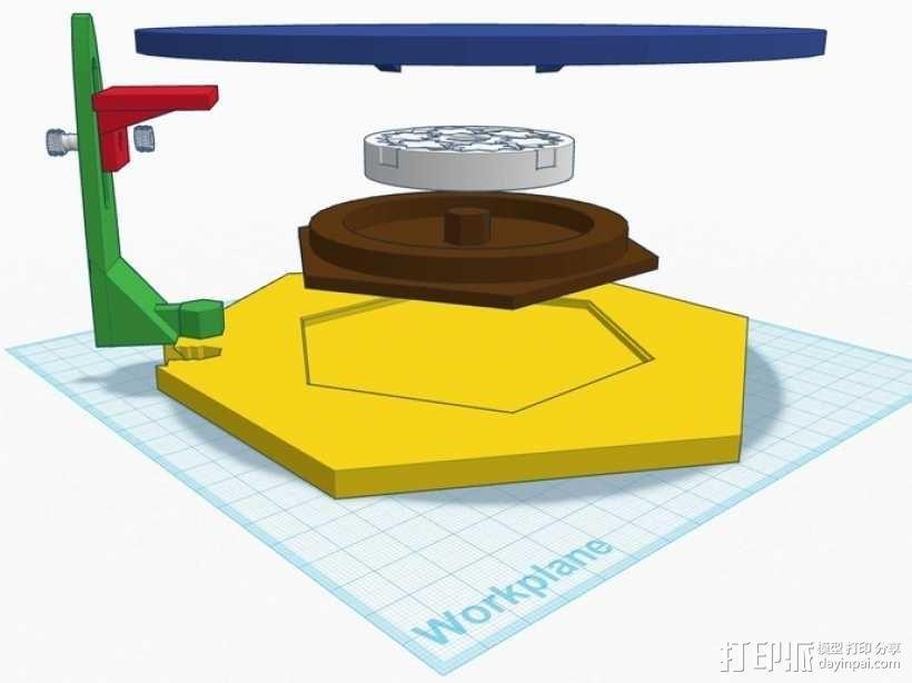 扫描转盘 3D模型  图1