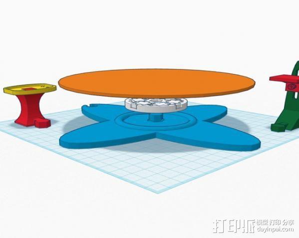扫描转盘 3D模型  图7