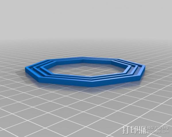 液态透镜框 3D模型  图3