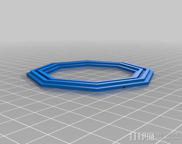 液态透镜框 3D模型  图2