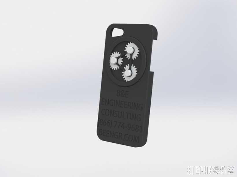 齿轮iPhone5 手机外壳 3D模型  图1