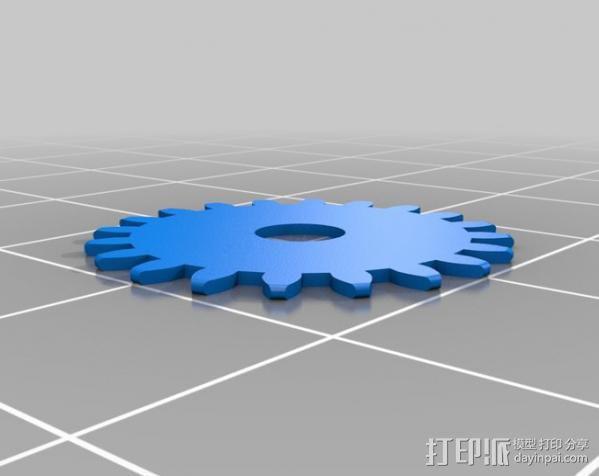 齿轮iPhone5 手机外壳 3D模型  图2