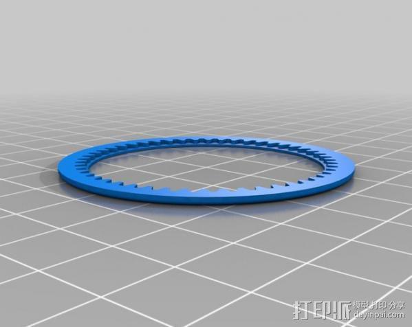 齿轮iPhone5 手机外壳 3D模型  图4