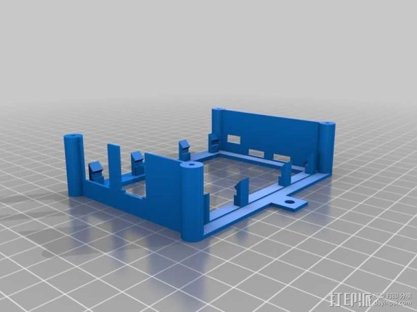 树莓派安装支架 3D模型  图1