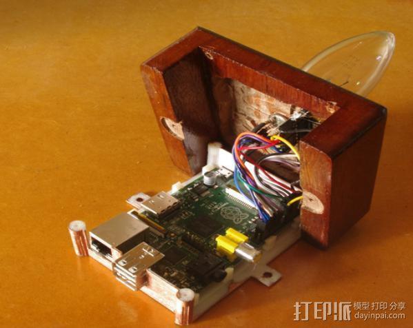 树莓派安装支架 3D模型  图2
