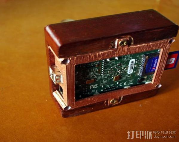 树莓派安装支架 3D模型  图3