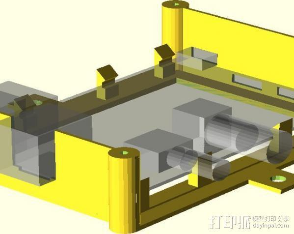树莓派安装支架 3D模型  图5