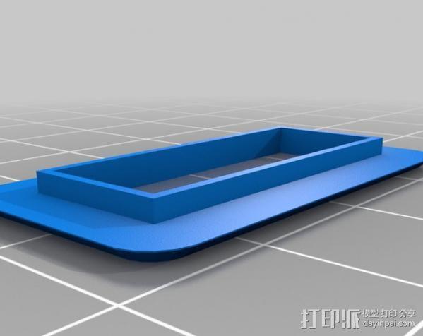 树莓派安装支架 3D模型  图6