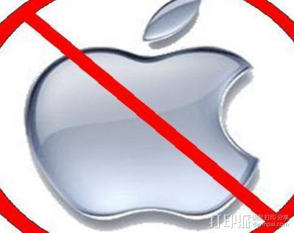 Anti-Mac标志 3D模型  图2