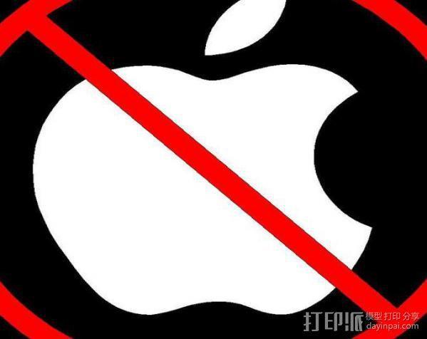 Anti-Mac标志 3D模型  图3