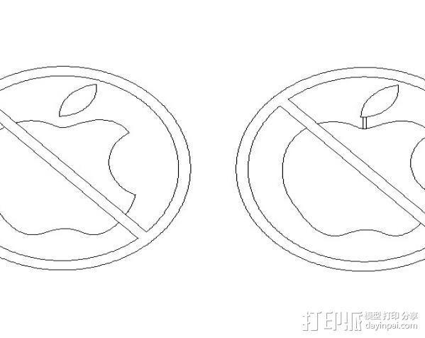 Anti-Mac标志 3D模型  图4