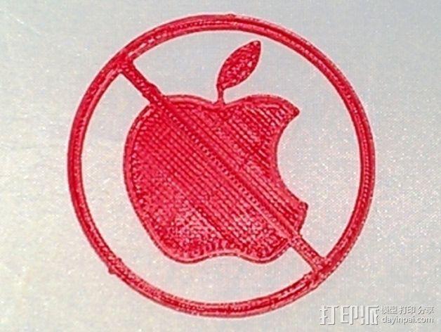 Anti-Mac标志 3D模型  图5