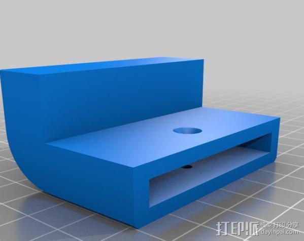 梯形电脑支架 3D模型  图1
