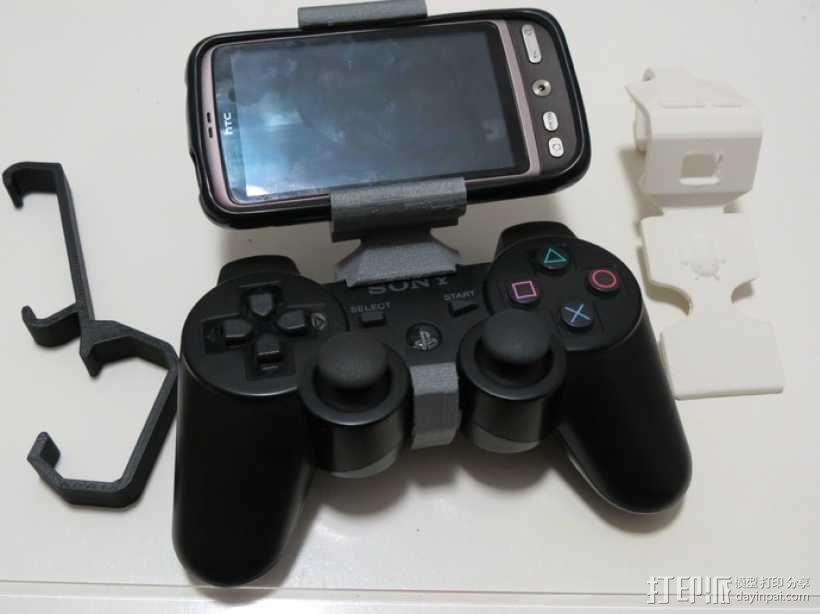 游戏机手柄固定夹 3D模型  图2