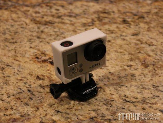 GoPro Hero3相机外框支架 3D模型  图2