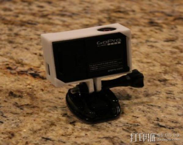 GoPro Hero3相机外框支架 3D模型  图3