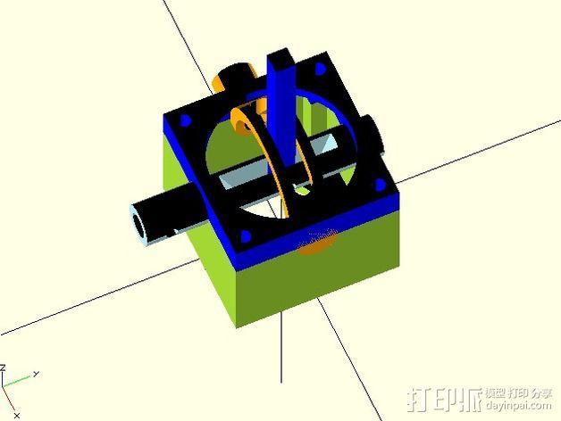 操纵杆 控制杆 3D模型  图3