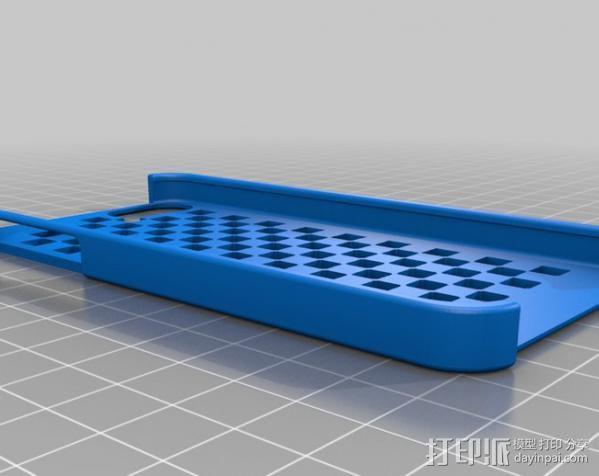 棋盘iPhone 5手机外壳 3D模型  图1