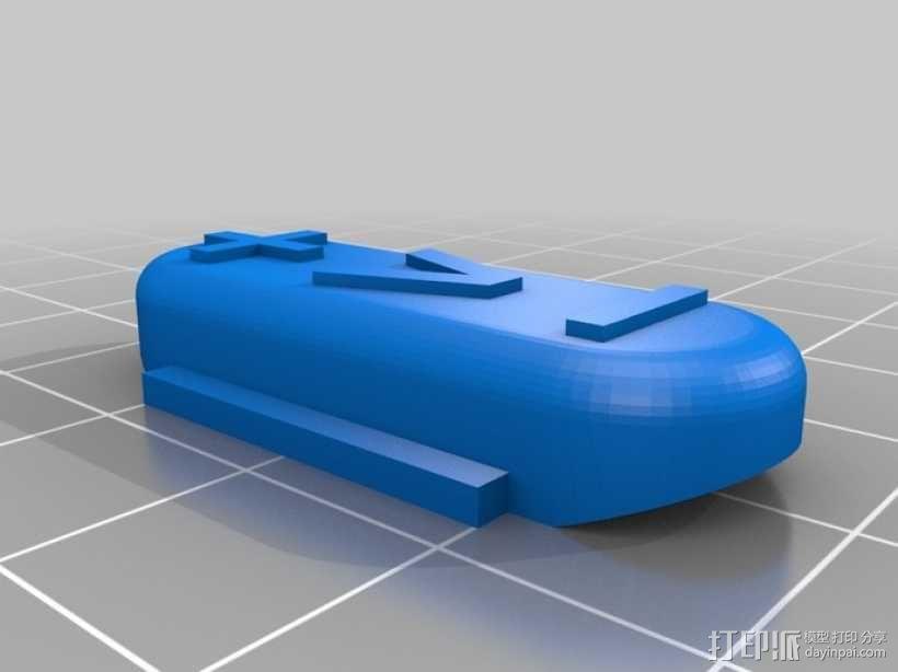 电视遥控器适配器 3D模型  图4