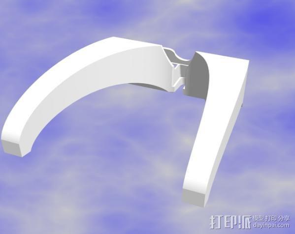 iPad mini平板电脑支架 3D模型  图3