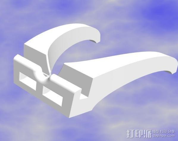 iPad mini平板电脑支架 3D模型  图2