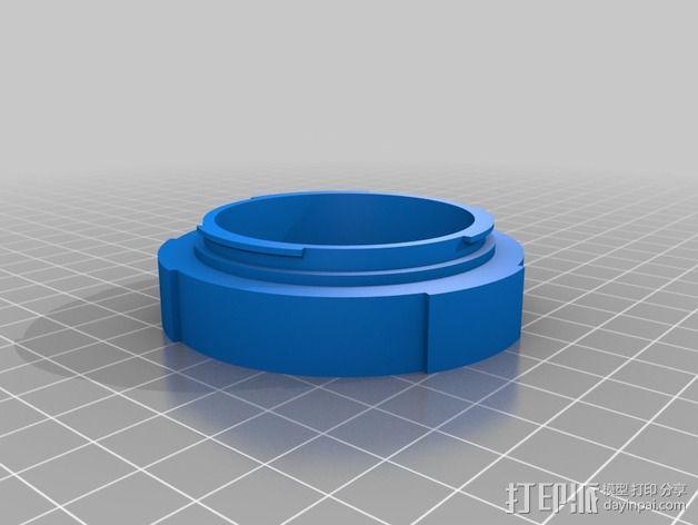 EOS-相机镜头适配器 3D模型  图1