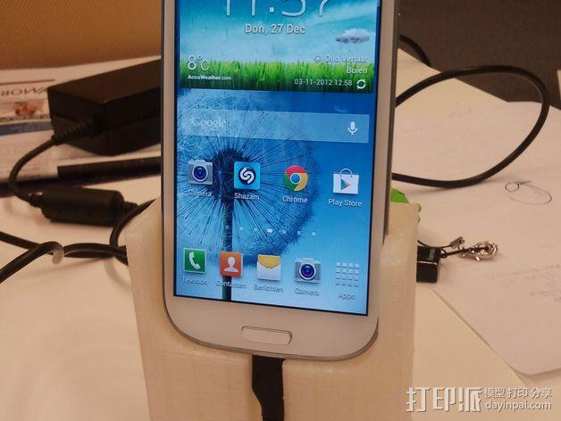 三星Galaxy S3 手机充电座 3D模型  图2