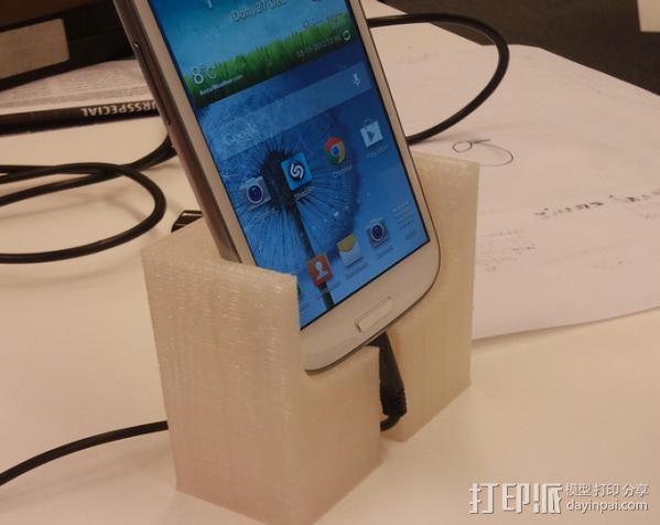三星Galaxy S3 手机充电座 3D模型  图3