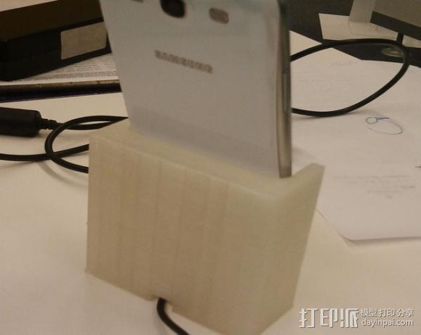 三星Galaxy S3 手机充电座 3D模型  图4