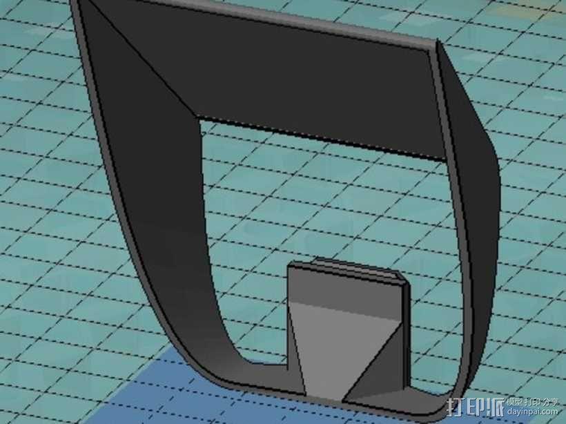 相机闪光扩散器 3D模型  图2