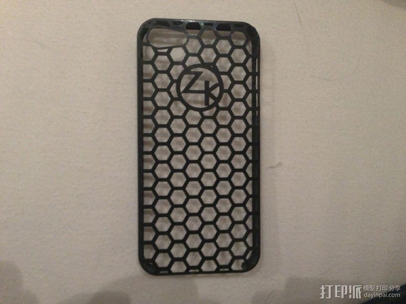 蜂巢图案iPhone5手机套 3D模型  图3