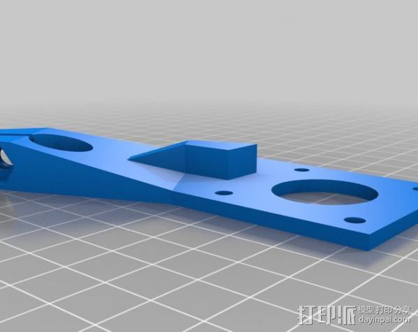 步进马达导轨支架 3D模型  图2