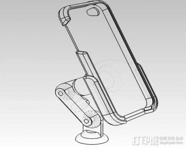 iPhone5 手机套 手机座  3D模型  图7