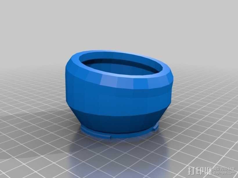 相机延时移轴适配器 3D模型  图1