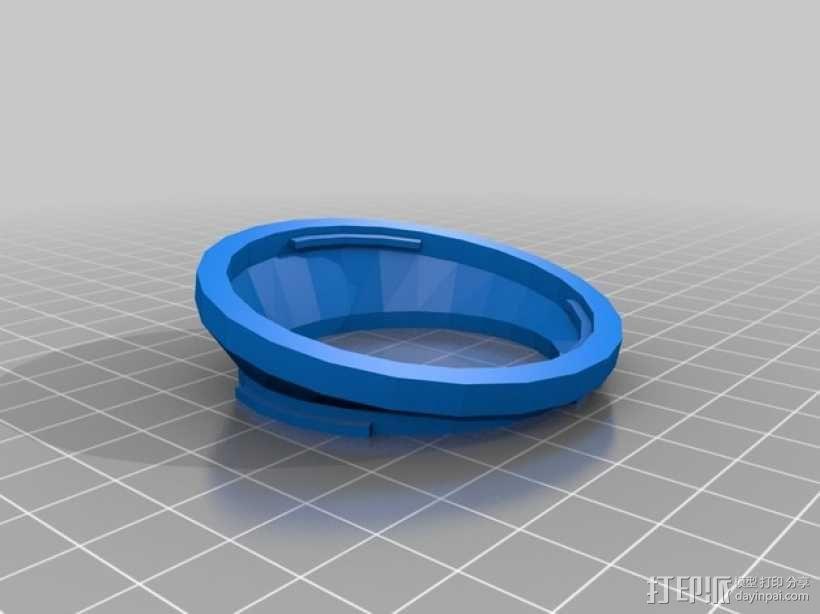 相机延时移轴适配器 3D模型  图2