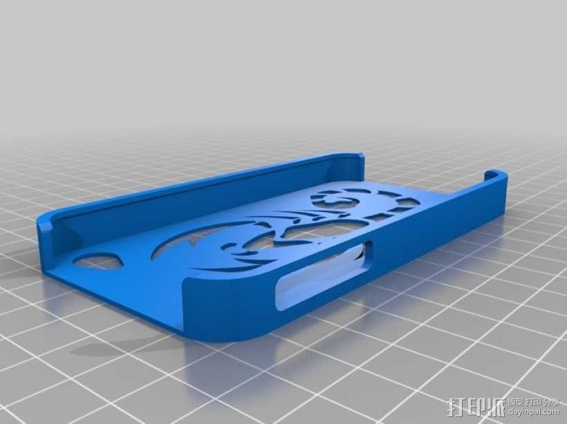 蝎子图案 iPhone4手机保护套 3D模型  图1