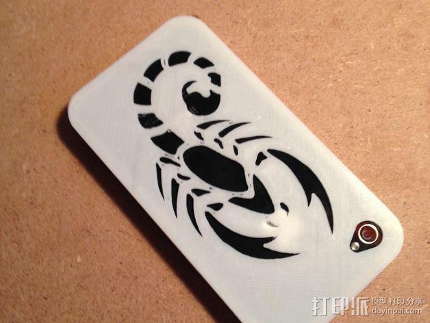 蝎子图案 iPhone4手机保护套 3D模型  图2