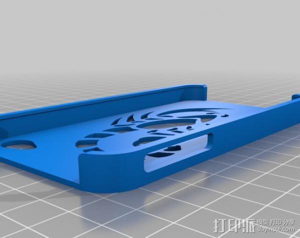 蝎子图案 iPhone4手机保护套 3D模型  图4