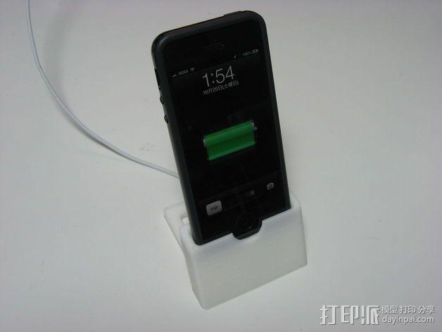 iPhone 5手机充电座 3D模型  图2